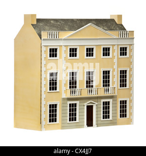 Large dolls house with Georgian facade - Stock Photo