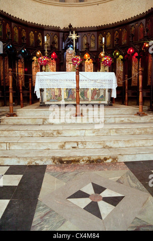 The altar, the Anglican cathedral of Christ Church, Stone Town Zanzibar - Stock Photo
