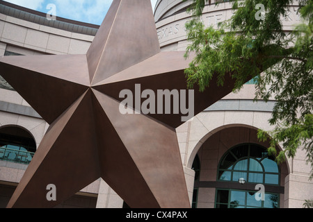 Bronze Star at the Bob Bullock Story of Texas Museum in downtown Austin, Texas - Stock Photo