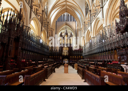 St Hugh's Choir in Lincoln cathedral,Lincolnshire,UK - Stock Photo