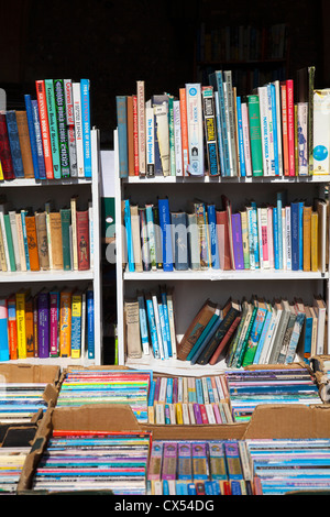 Second Hand Books for Sale in the Former Prior's House Arches in Winchester - Hampshire UK - Stock Photo