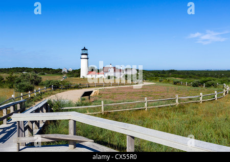Cape Cod Highland Lighthouse, Cape Cod National Seashore, North Truro, Cape Cod, Massachusetts, USA - Stock Photo