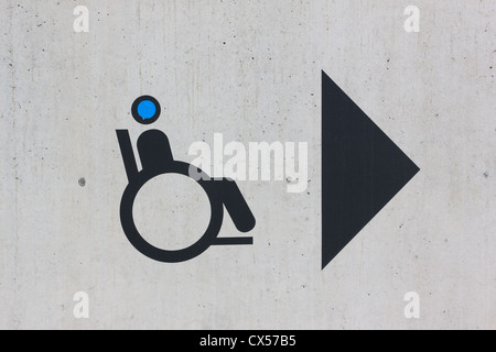 Disability sign on grunge background - Stock Photo