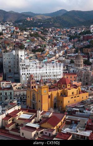 North America, Mexico, Guanajuato State, Guanajuato, Cathedral, University. The city  is a UNESCO World Heritage - Stock Photo