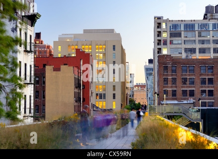 The High Line in New York City. - Stock Photo