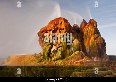 USA, Nevada, Black Rock Desert. View of the Fly Geyser. Credit as: Cathy & Gordon Illg / Jaynes Gallery / DanitaDelimont.com - Stock Photo