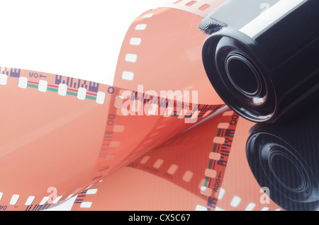 Roll of negative film for film cameras. - Stock Photo