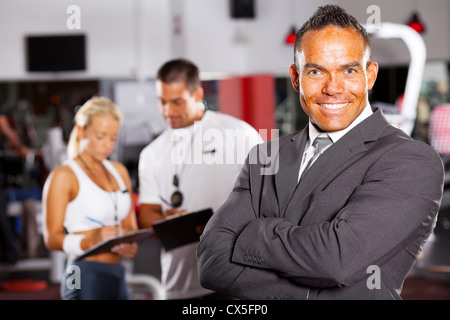 confident male gym manager portrait - Stock Photo
