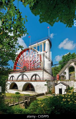 Laxey Wheel,Isle of Man,British Isles. - Stock Photo