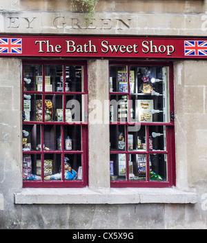The Bath Sweet Shop on Abbey Green - City of Bath, Somerset - Stock Photo