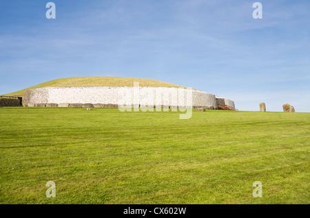 UNESCO World Heritage Site - megalithic passage tomb, Newgrange in Ireland. - Stock Photo