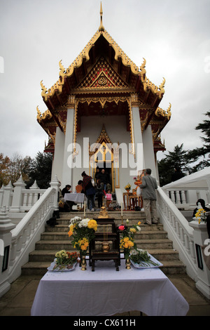 The Wat Buddhapadipa Temple, London, Wimbledon - Stock Photo