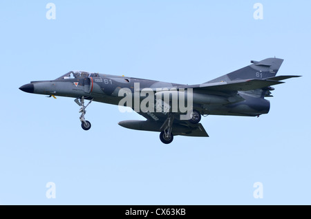Dassault Super Etendard operated by 11th Flotille, Aeronavale, French Navy, on approach for landing at RAF Fairford - Stock Photo