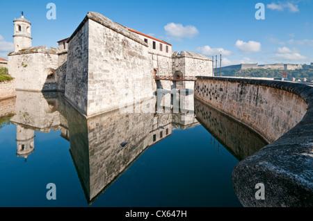 Castillo de la Real Fuerza, Habana Vieja, Havana, Cuba, Caribbean - Stock Photo
