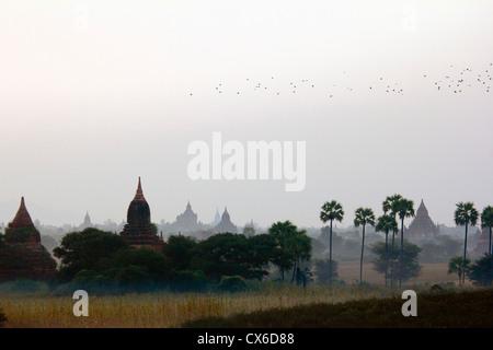 Temples of Bagan, Burma - Stock Photo