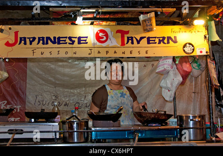 Khao San Road bangkok Thailand Thai night market food bar pub - Stock Photo