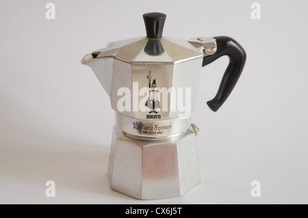 Bialetti moka express coffee pot - Stock Photo