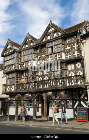 Exterior of The Feathers Hotel in Ludlow Shropshire England UK - Stock Photo