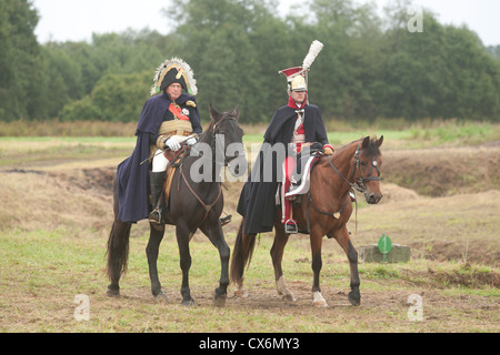 Some three thousand men and a handful women re-enact the 1812 battle of Borodino between French and Russian armies - Stock Photo