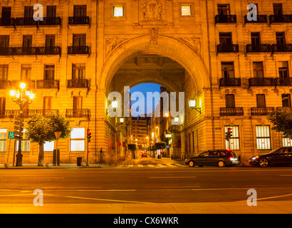 Santander bank building (Banco de Santander) inSantander, Spain - Stock Photo