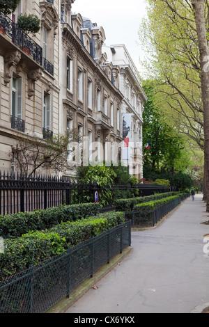 Musee Cernuschi in Avenue Velasquez, near Parc de Monceau, Paris, France - Stock Photo