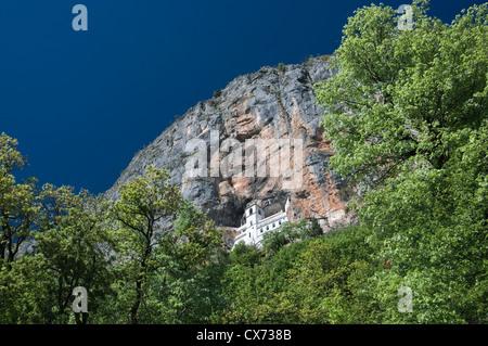 Orthodox Ostrog monastery in Montenegro - Stock Photo