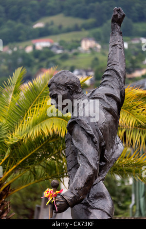 Memorial to Freddie Mercury - Montreux - Switzerland - Stock Photo