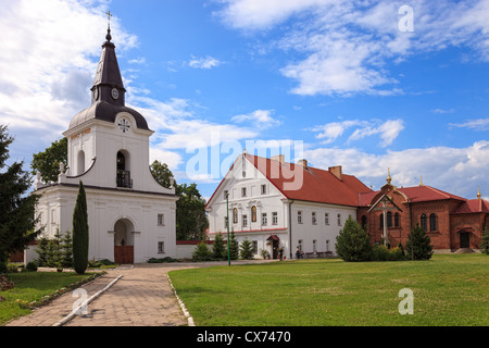 The Gate-Belltower in Monastery of the Annunciation in Suprasl in North Eastern Poland. - Stock Photo