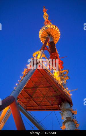 TV tower on Mtatsminda mount, Tbilisi, Georgia - Stock Photo