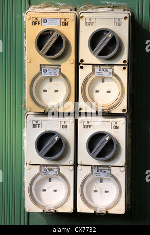 Outdoor power sockets. - Stock Photo