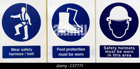 Construction site safety sign - Stock Photo
