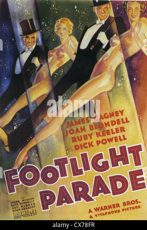 42nd STREET Poster for 1933 Warner Bros film with Bebe  Daniels, James Cagney and Joan Blondell - Stock Photo