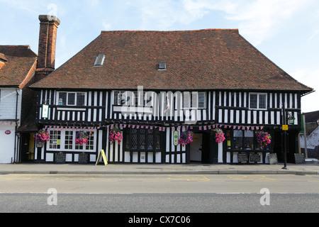 The Lemon Tree Restaurant in heavily timbered former 15th century Wealden Hall House Tenterden Kent UK GB - Stock Photo