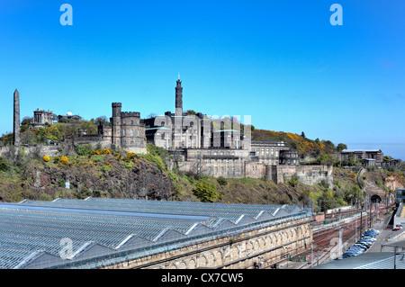 Waverley railway station, Edinburgh, Scotland, UK - Stock Photo