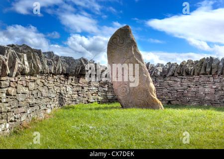 Pictish carved stone, Aberlemno, Angus, Scotland, UK