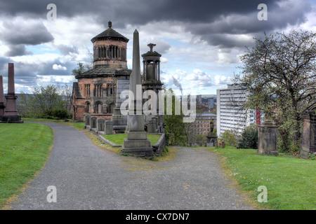 Necropolis, Glasgow, Scotland, UK - Stock Photo