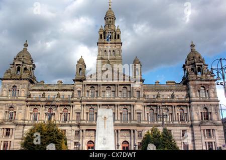 Glasgow City Chambers (1888), George Square, Glasgow, Scotland, UK - Stock Photo