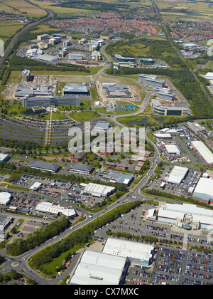 Silverlink business area, Newcastle upon Tyne, North East England, UK, Siemens site visible in the background - Stock Photo