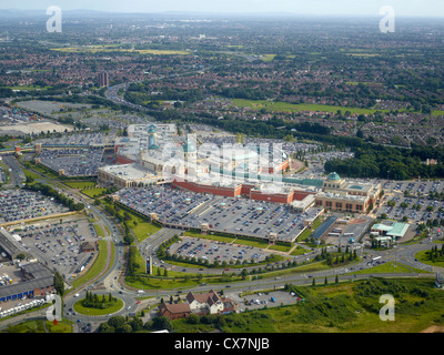 Trafford Shopping Centre Manchester, from the air, North West England UK - Stock Photo