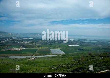 Israel, Lower Galilee, view of the Sea of Galilee from west - Stock Photo