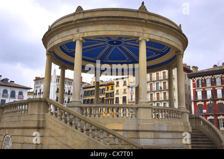 The bandstand on the Plaza del Castillo in Pamplona, Spain. - Stock Photo