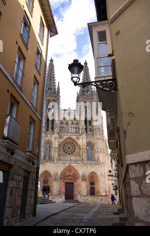 The Cathedral of Santa Maria in Burgos, Spain. - Stock Photo