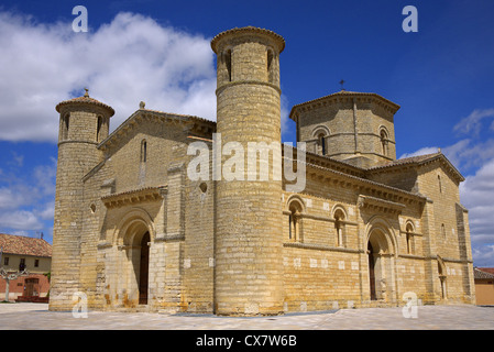 Church of Saint Martin, Iglesia de San Martin in Fromista, Spain. - Stock Photo