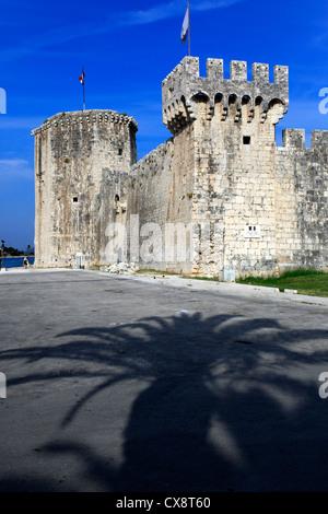 Kamerlengo Castle, Old town, Trogir, Dalmatia, Croatia - Stock Photo
