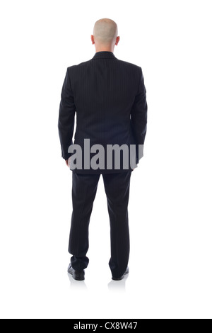 man in suit viewed from behind - Stock Photo