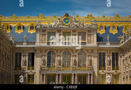The Palace of Versailles, or simply Versailles, is a royal château in Versailles in the Île-de-France region of - Stock Photo