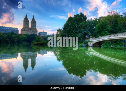 The Lake in New York City's Central Park - Stock Photo