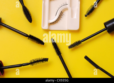 Different mascara brushes - Stock Photo