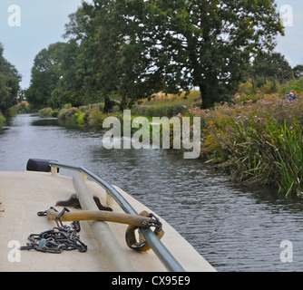 A boat trip on the Chichester Ship Canal in West Sussex - Stock Photo