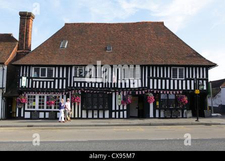 The Lemon Tree Restaurant in timber framed former 15th century Wealden Hall House Tenterden Kent UK GB - Stock Photo